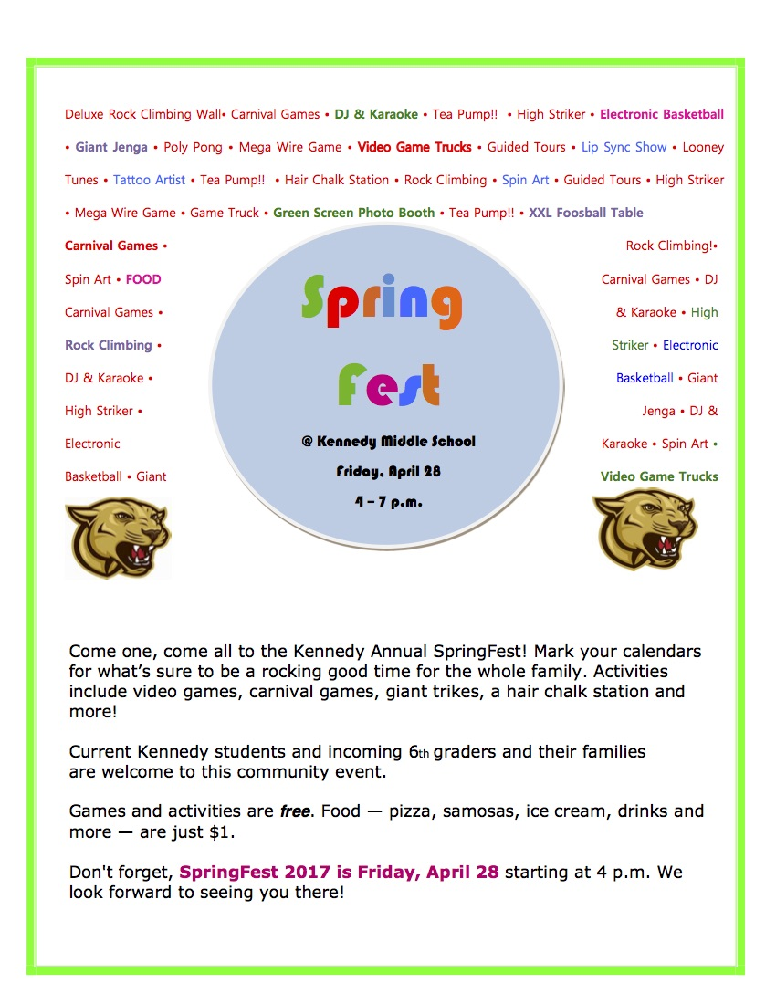 SpringFest | Kennedy Middle School PTA